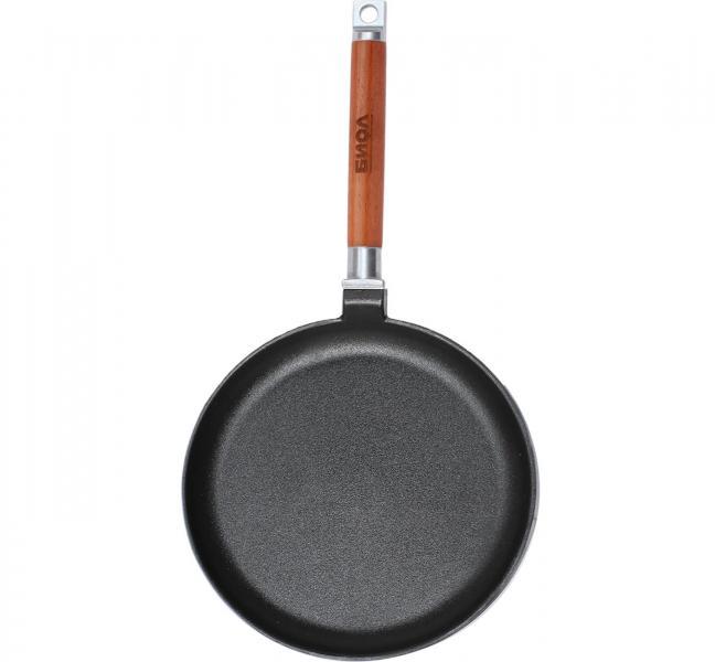 Фото Сковородки, сотейники, жаровни, WOK, Сковороды для блинов чугунные Сковорода блинная чугунная Биол 22 см