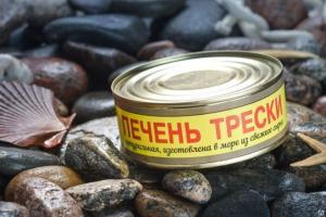 Фото Рыбные консервы Печень трески нат.