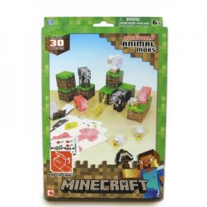 """Фото  Бумажный конструктор """"Minecraft Papercraft"""" Игровой мир """"Дружелюбные мобы"""" 30 деталей"""