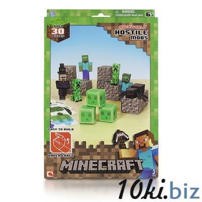 """Бумажный конструктор """"Minecraft Papercraft"""" Игровой мир """"Враждебные мобы"""" 30 деталей"""