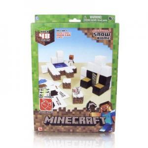 """Фото  Бумажный конструктор """"Minecraft Papercraft"""" Игровой мир """"Снежный биом"""" 48 деталей"""