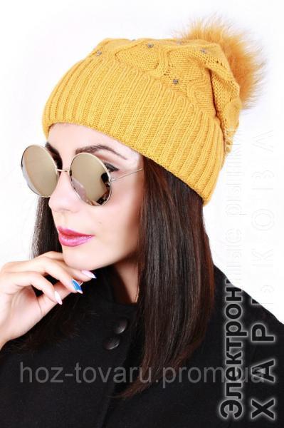 Шапка вязанная женская Майя 0042 (5 цв), женские шапки оптом, шапки от производителя, дропшиппинг