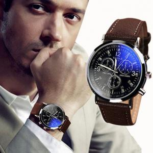 Фото Наручные часы  Мужские часы Yazole с коричневым ремешком