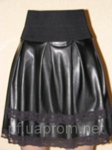 Фото Юбки Юбка короткая. Искусственная кожа