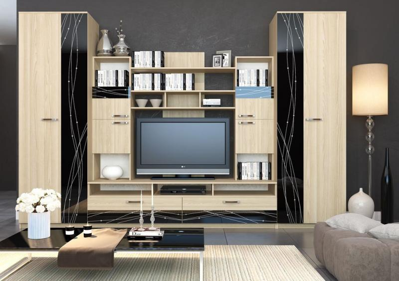 Фото Стенки и мебель для гостиной  Стенка для гостиной Майя-4 (ДСВ МЕБЕЛЬ)