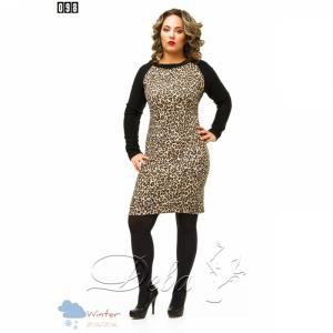 Фото Платья Платье батальное леопардовое №098