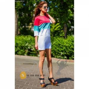 Фото Платья Платье 3х цветное из дайвинга №059