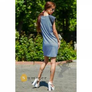 Фото Платья Платье полосатое из вискозы №044