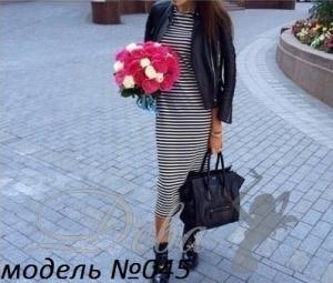 Фото Платья Платье полосатое рукав 3 четверти №045
