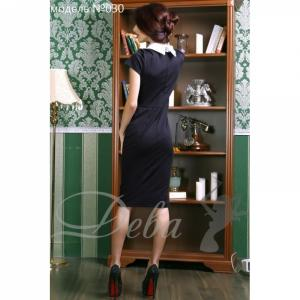 Фото Платья Платье трикотажное с воротничком №030