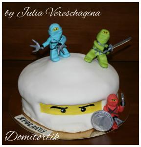 Фото Торты, Детские торты Торт LEGO Ninjago (ЛЕГО Ниндзяго) голова
