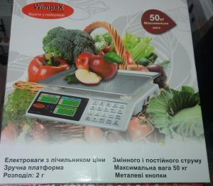 Фото Весы, Торговые весы Торговые весы с металлическими кнопками wimpex