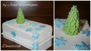 Фото Торты, Праздничные торты Тортик маленький Новый год