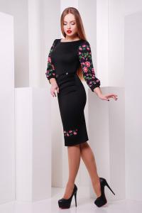 Фото Одяг з вишивкою Плаття Рукав квіти