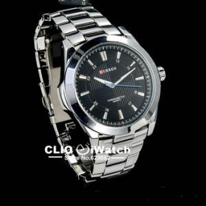 Фото  Классический бренд мужских  стальных кварцевых наручных часов relogio , 0078
