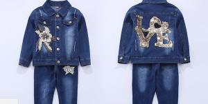Фото Одежда для девочек. Комплект джинсовый для девочек.