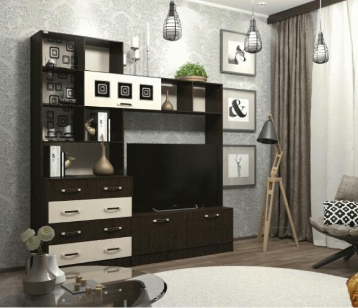 Фото Тумбы, тумбы для ТВ Ронда стенка ЦСР2000.1 (ДСВ мебель)