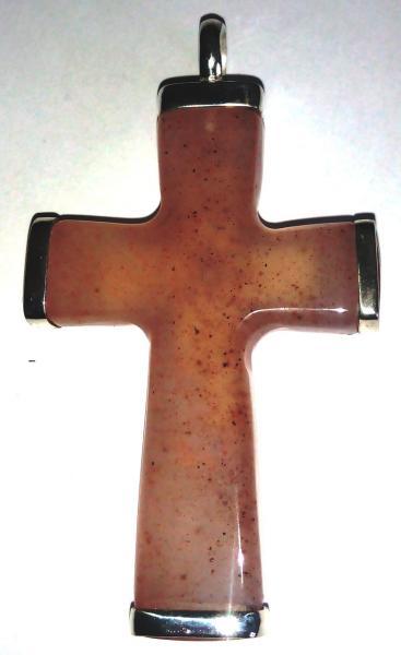 Фото Изделия из камня. Под заказ Крест православный из джамбульского халцедона