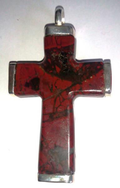 Фото Изделия из камня. Под заказ Крест православный из яшмы