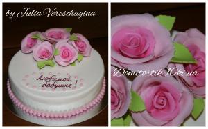 Фото Торты, Праздничные торты Торт с розами