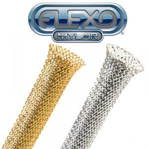 Фото Оплітка, хомути, інструмент Techflex (USA) Декоративна кабельна оплітка Mylar, діапазон розтяжки 0.32-1.11см