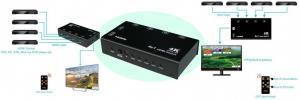 Фото Комутатори, відеостіни Комутатор 4х1 HDMI 4Kx2K 3D