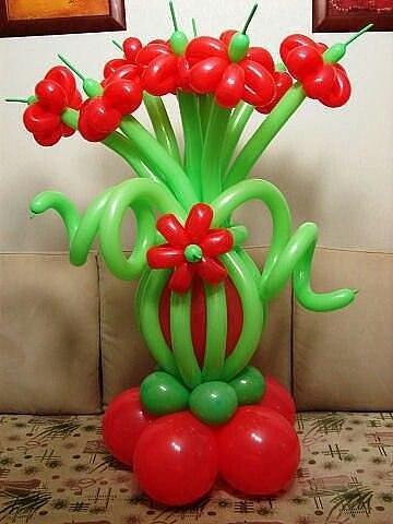 Композиции цветов из шаров