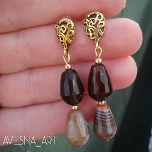 Фото Изделия из натуральных камней Серьги из агата