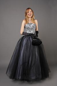 Фото Пышные вечерние платья Длинное пышное платье на корсете