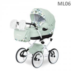 Фото Коляски, Классические коляски 2 в 1 Коляска классическая (2в1) CARETTO MICHELLE LUX ЭКО-КОЖА (2в1)