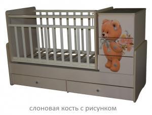 Фото Кроватки, Кроватки-трансформеры Кроватка-трансформер Алита Ульяна-2 (цвет в ассортименте)