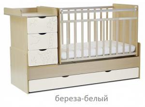 Фото Кроватки, Кроватки-трансформеры Кроватка-трансформер СКВ-5 Жираф-54 (цвет в ассортименте)