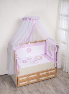 Фото Постельное белье Комплект в кроватку (7 предметов) №62 сиреневый