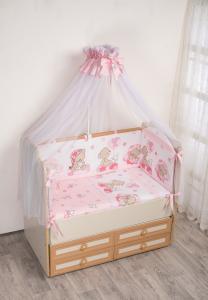 Фото Постельное белье Комплект в кроватку (7 предметов) №59.2 розовый