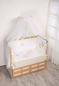 Фото Постельное белье Комплект в кроватку (7 предметов) №62 бежевый