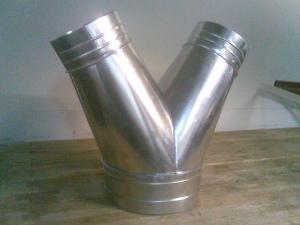 Фото Воздуховоды Тройник штанообразный для вентиляции
