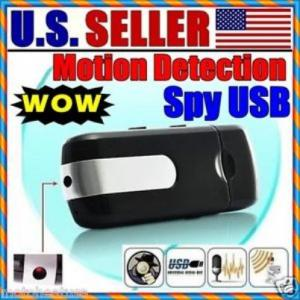 Фото Шпионская мини видеокамера Флешка-видеокамера с детектором движения U8