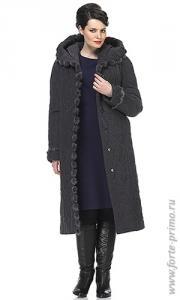 Фото  Пальто женское с натуральной норкой