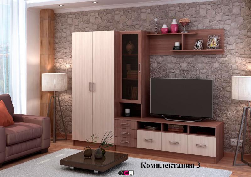 Фото Стенки и мебель для гостиной  Модульная гостиная Италия ЛДСП (Стендмебель)