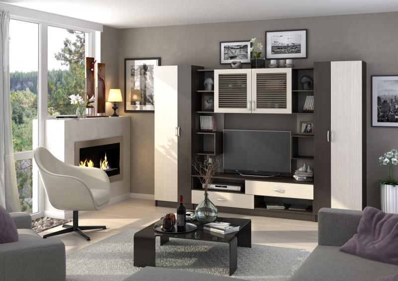 Фото Стенки и мебель для гостиной  Гостиная Марта 2 ЛДСП (Стендмебель)