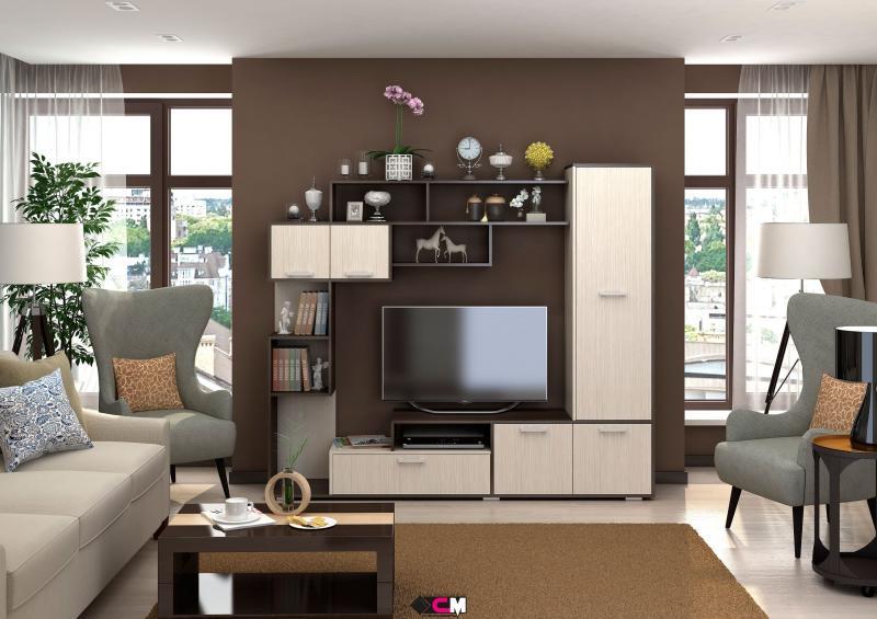 Фото Стенки и мебель для гостиной  Гостиная Капри ЛДСП (Стендмебель)