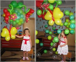 Фото Композиции из шаров  шар сюрприз (с конфетти )