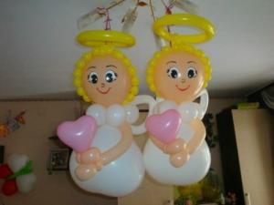 Фото Композиции из шаров , Крестины  ангелочек