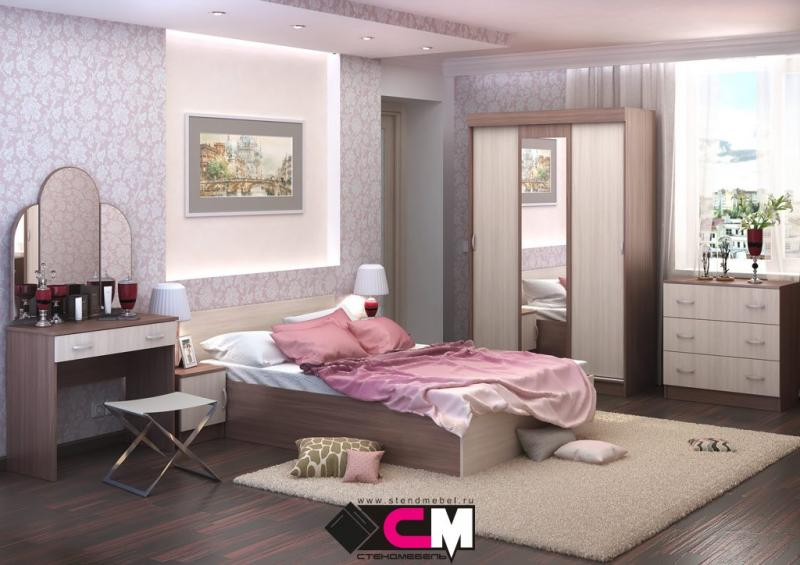 Фото Мебель для спальни Модульная спальня Бася ЛДСП (Стендмебель)