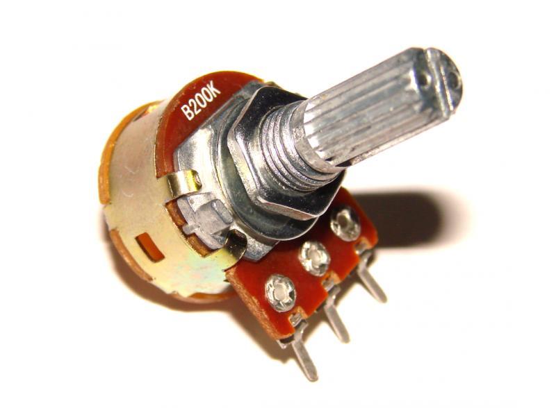 Фото Резисторы, Потенциометры Резистор переменный с выключателем В 200 кОм