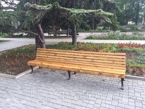 Фото Скамейки садовые Скамейки Волна 3м