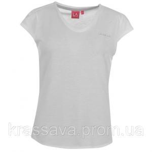 Фото Женская футболка, поло, майка Футболка женская LA Gear, оригинал, белая, XL/16/50