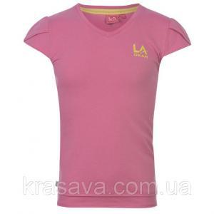 Фото Футболка,борцовка,майка для девочек Футболка для девочки LA Gear, оригинал, розовая, 7-8 лет/122-128 см/SG