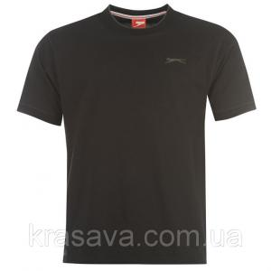 Фото Мужская футболка, майка, поло Футболка мужская Slazenger, оригинал, черная,  M/48