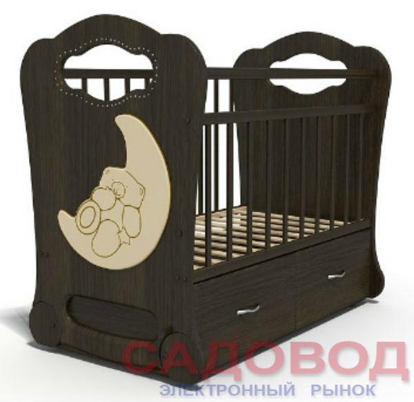 Детская кроватка Бэби Элит Мишка на Луне 120x60 см